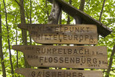 On the Hiking Trail Goldsteig, Germany — Stock Photo