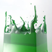 Splashing Fluid — Stock Photo