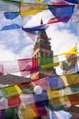 Bandeiras de oração — Foto Stock