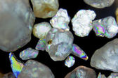Micro photography of sand grains — Stock Photo