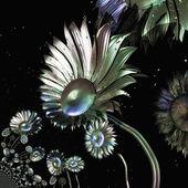 Digital visualization of flowers — Stock Photo