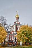 Novoděvičí klášter. moskva. uspenský kostel — Stock fotografie