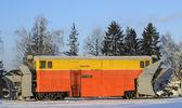 Railway snow-removing equipment — Stock Photo