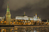 Embankment of the Moscow Kremlin at night — Stock Photo