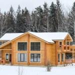 bouw van een country house — Stockfoto