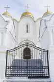 Entrance to the Uspensky cathedral city of Vladimir — Stock Photo