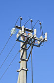 Power line column — Stock Photo