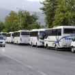 Bus Parking — Stock Photo