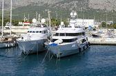 Jachty v přístavu — Stock fotografie