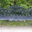 Cast iron bench — Stockfoto