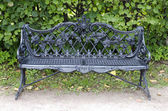 Cast iron bench — Stock Photo