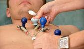 Patient makes ECG — Stock Photo