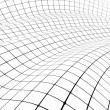 3D grid covered curved surface - Stock Photo