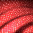 3D grid covered red curved surface — Stock Photo