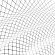 3D grid covered curved surface - Foto Stock