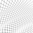 3D grid covered curved surface — ストック写真