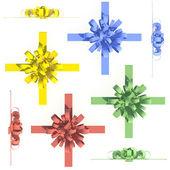Colorful bows and ribbons set — Stock Photo