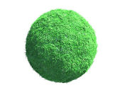 Green globe covered with grass — Stock Photo