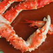 Stock Photo: Crab claw with shrimp