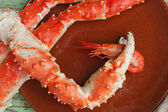 Crab claw with shrimp — Stock Photo