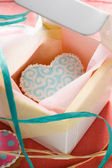 St. Valentine's cakes - Stock Image — Stock Photo