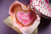 St. Valentine's cakes - Stock Image — Stock Photo