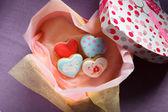 St. Valentine's cakes - Stock Image — Photo