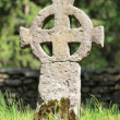 Weathered celtic cross — Stock Photo