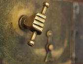 A door handle — Stock Photo
