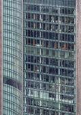 A closeup of a modern skyscraper — Stock Photo