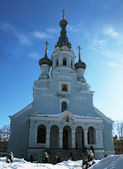 Blue orthodox cathedral — Stock Photo