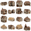 Collection of medieval houses - 3d — Stock Photo #21585403