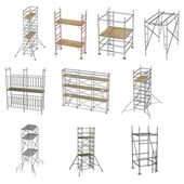 Collection of 3d renders - scaffolding — Stock Photo