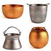 3d render of antique pots — Stock Photo
