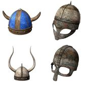 Collection of 3d renders - helmets — Stock Photo