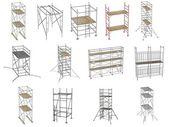 Collection de renders 3d - échafaudages — Photo