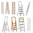 Cartoon image of ladders set — Stock Photo