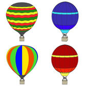 Cartoon image of hot air balloon — Stock Photo