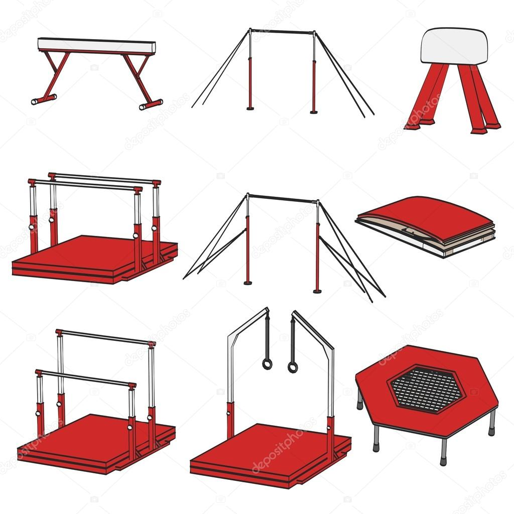 Cartoon image of gym equipment — Stock Photo ...