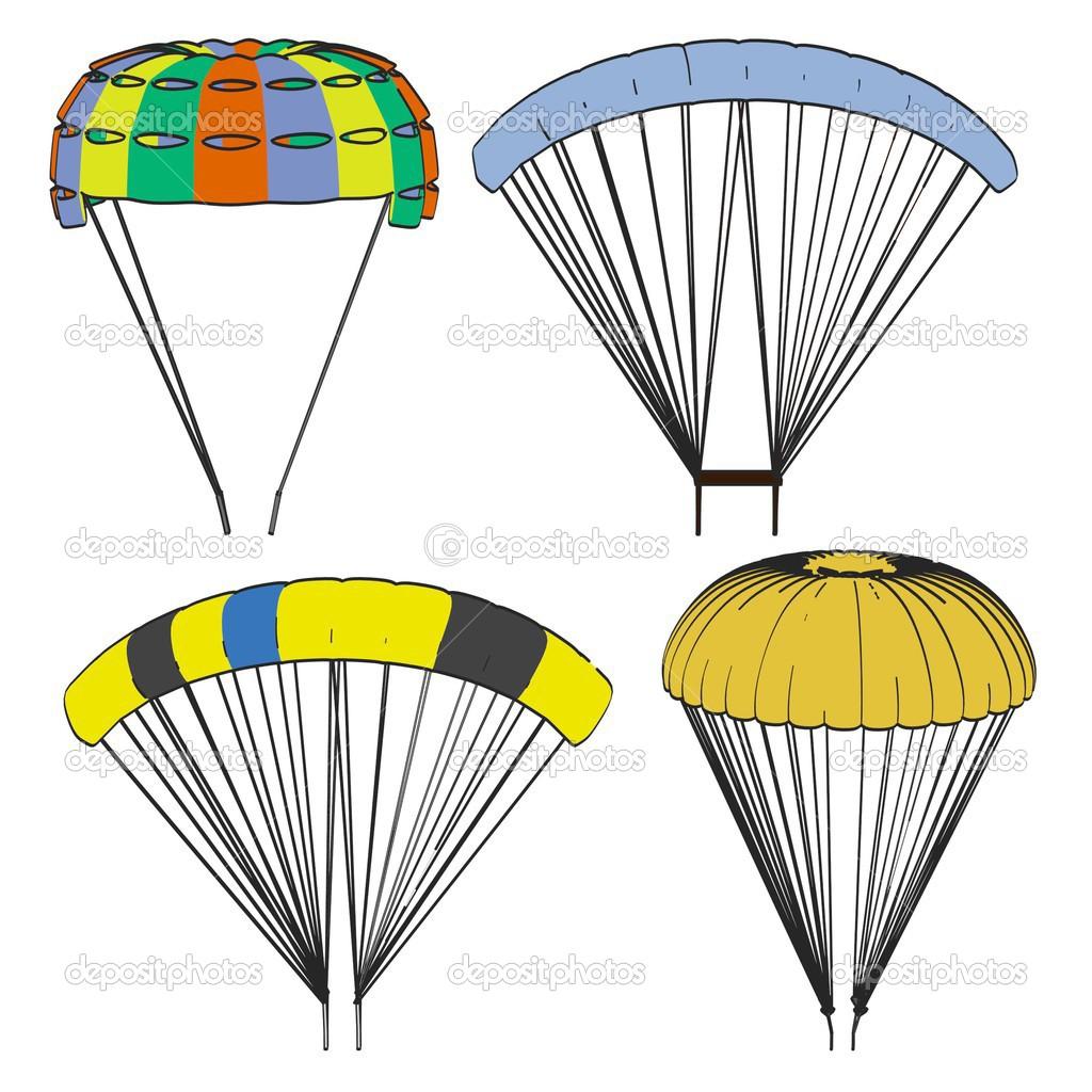 Image de dessin anim de jeu de parachute photographie - Dessin parachutiste ...