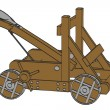 Cartoon image of catapult weapon — Stock Photo