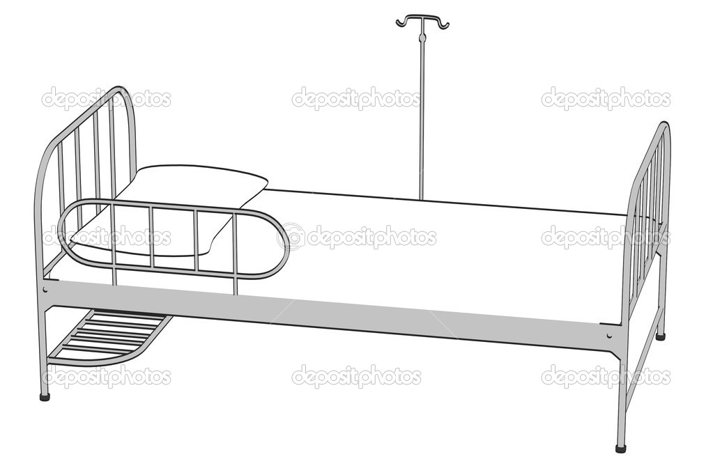 Cartoon image of hospital bed stock photo 3drenderings for Cama cerrada