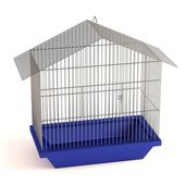 Realistic 3d render of bird cage — Stock Photo