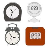 Cartoon image of alarm clocks — Stock Photo