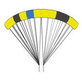Cartoon image of parachute — Stockfoto