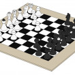 Cartoon image of chess set — Stock Photo #38772525