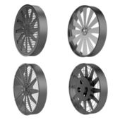 Realistic 3d render of large fans — Stock Photo