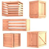 Realistic 3d model of crates — Stock Photo