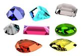 Realistic 3d render of gems — Stock Photo