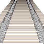 Cartoon image of railway track — Stock Photo